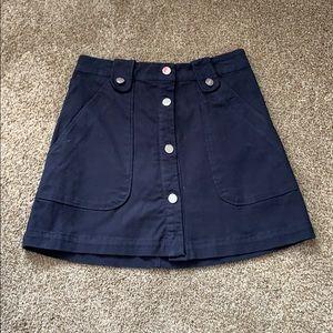 Navy Zara button up mini skirt
